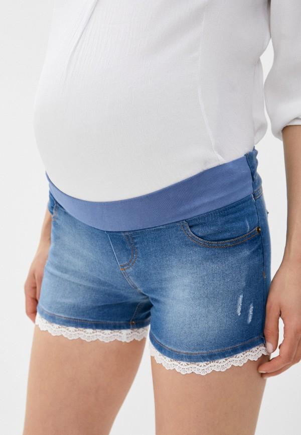 женские джинсовые шорты mam's, голубые