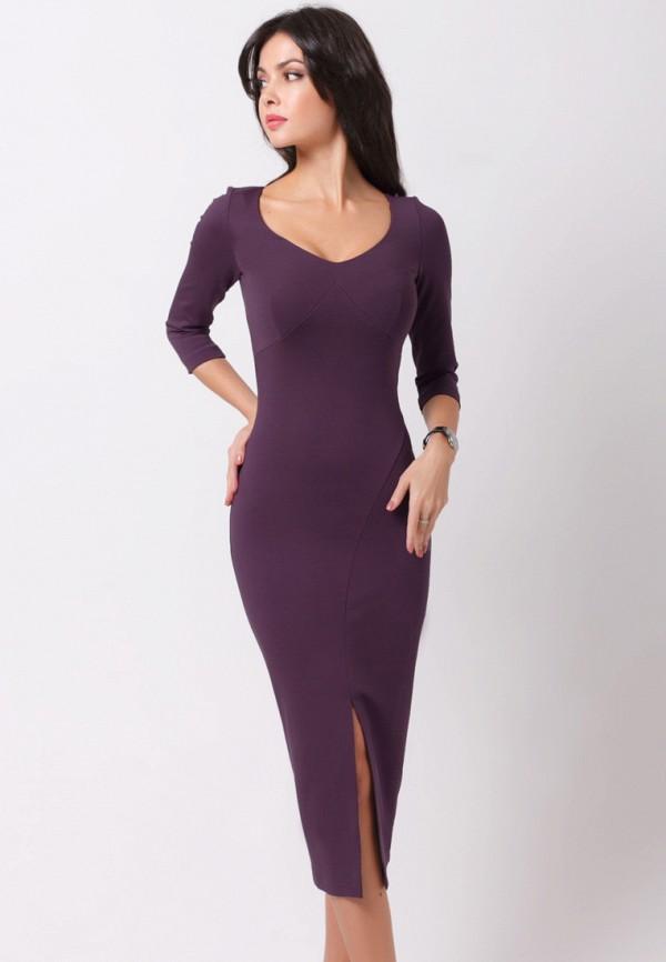 женское вечерние платье olga skazkina, фиолетовое