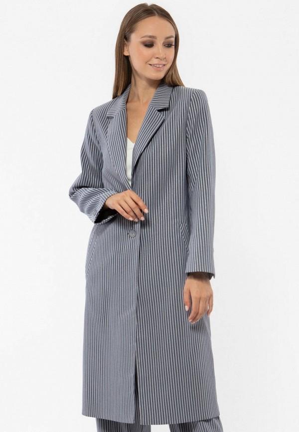 Фото - Женское пальто или плащ Vladi Collection серого цвета