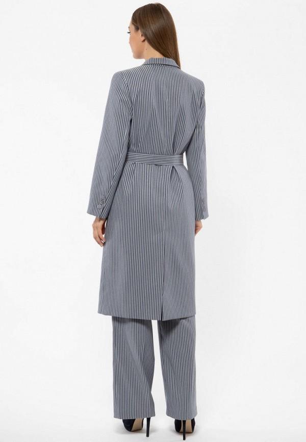 Фото 3 - Женское пальто или плащ Vladi Collection серого цвета