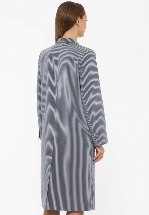 Фото 5 - Женское пальто или плащ Vladi Collection серого цвета
