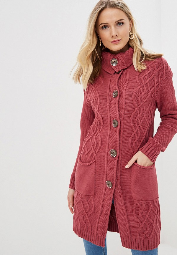 женский кардиган milanika, розовый