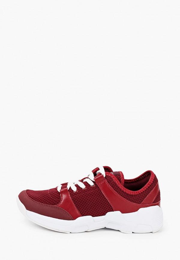 женские низкие кроссовки pulse, бордовые