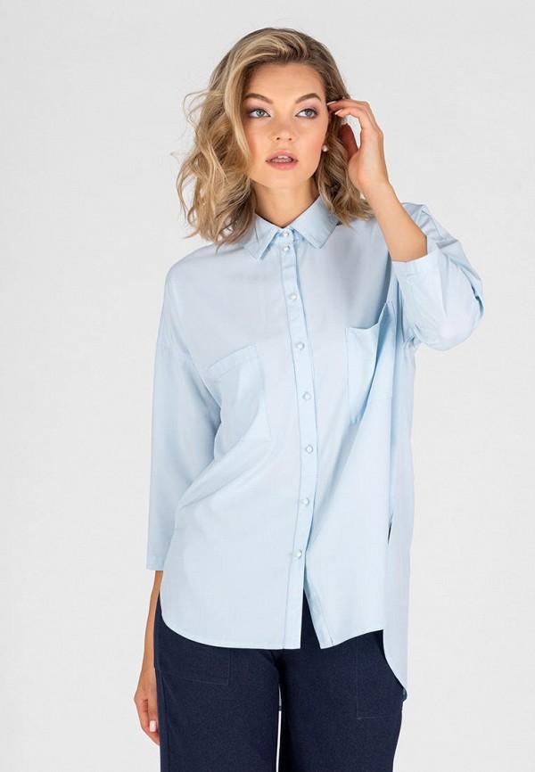 женская блузка с длинным рукавом eliseeva olesya, голубая