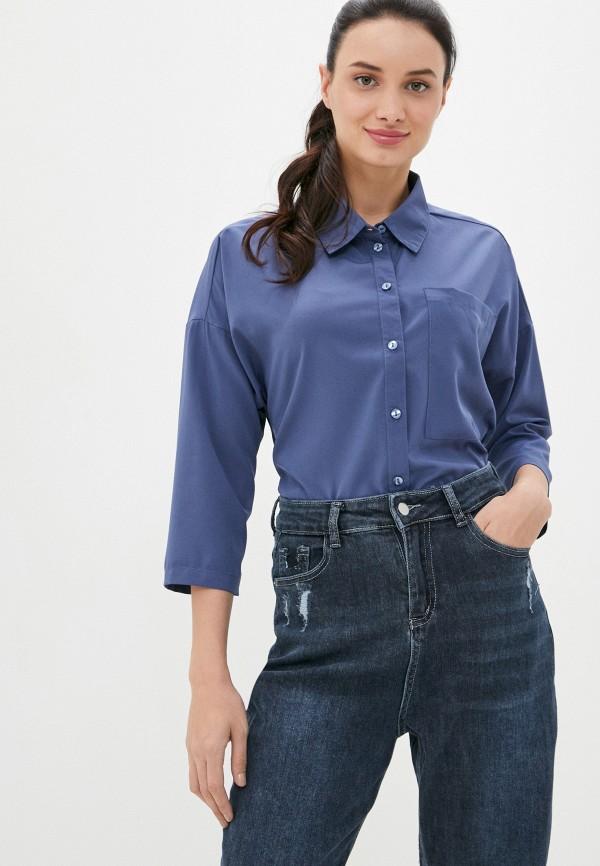 женская блузка с длинным рукавом eliseeva olesya, синяя