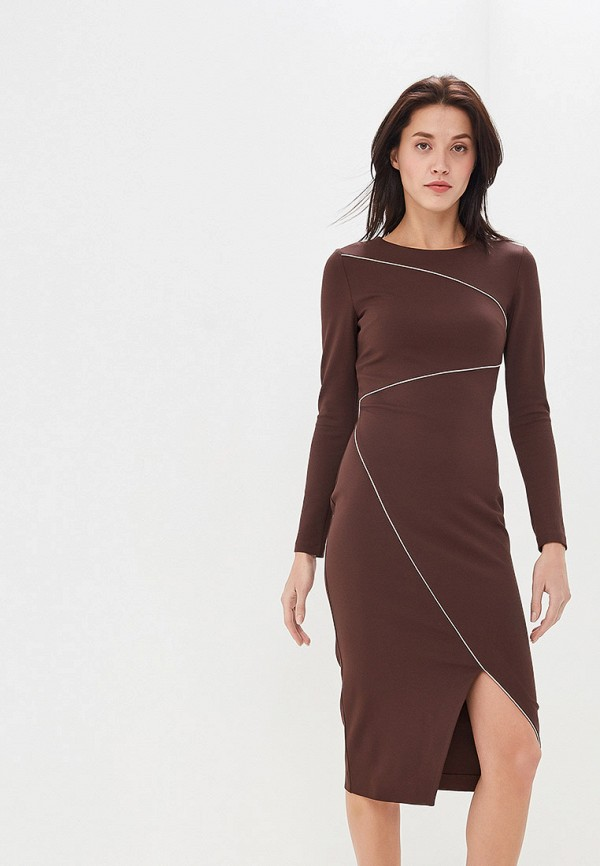 женское платье-футляр olga skazkina, коричневое
