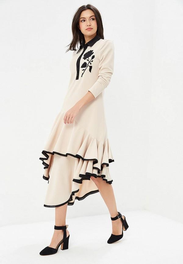 женское повседневные платье cavo, бежевое