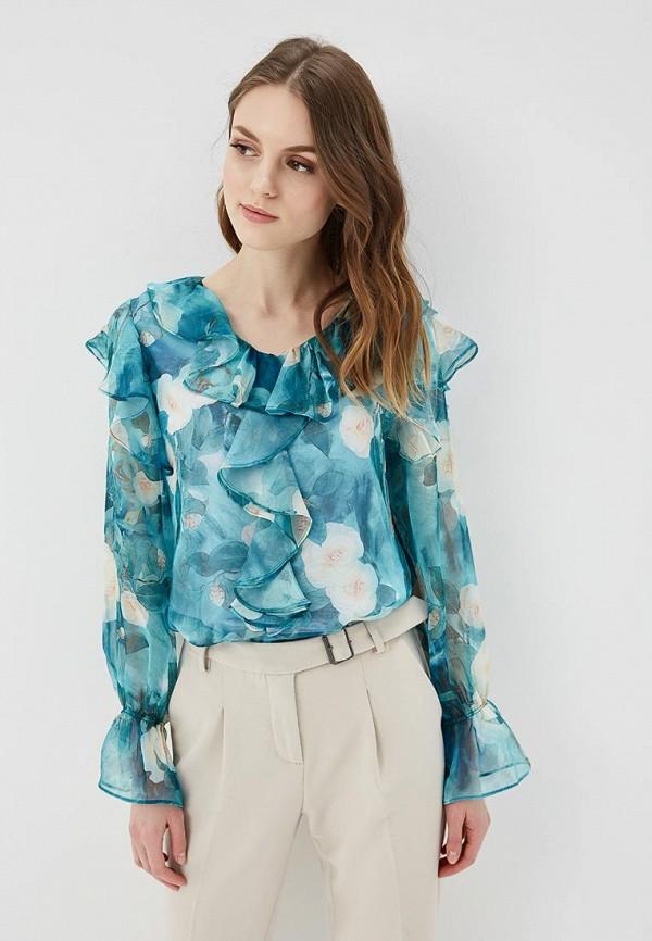 женская блузка cavo, бирюзовая