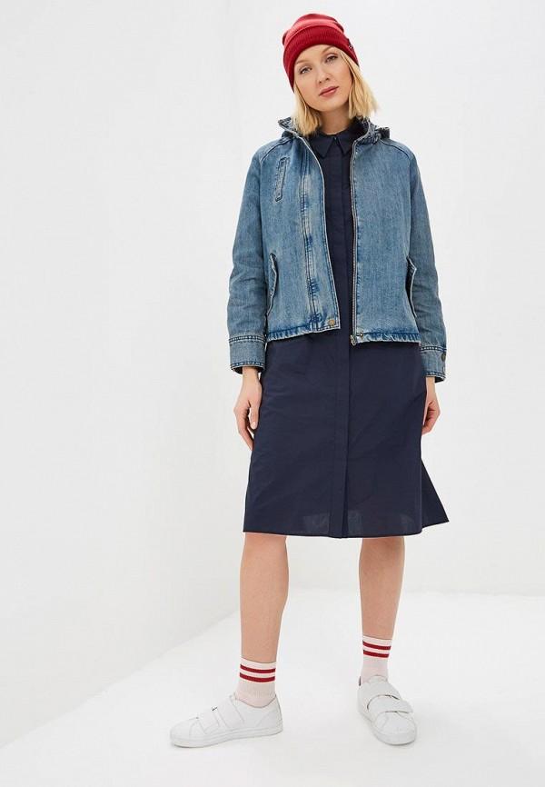 Фото 2 - Куртку джинсовая Baon голубого цвета