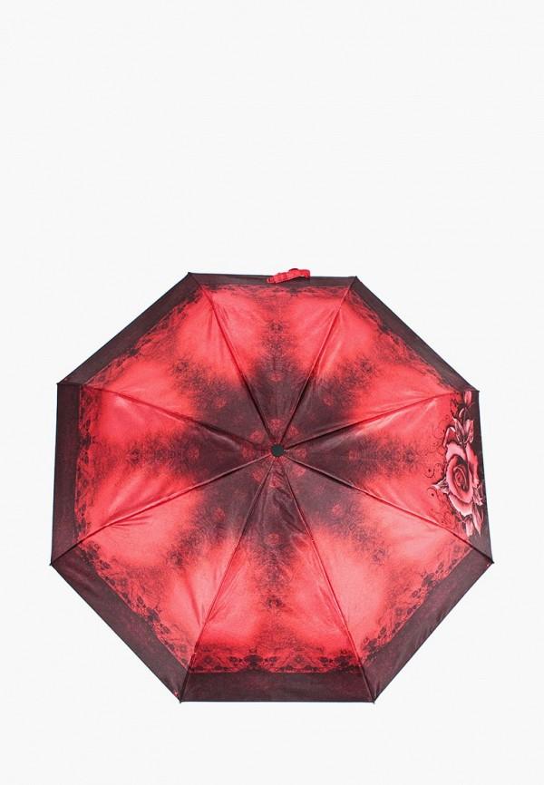 женский зонт zemsa, бордовый