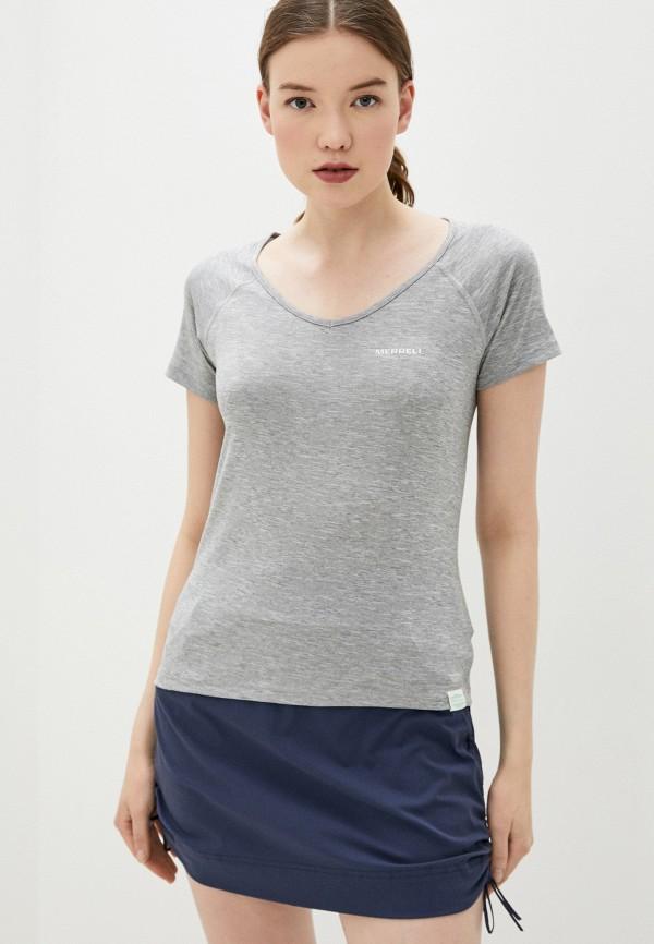 женская спортивные футболка merrell, серая