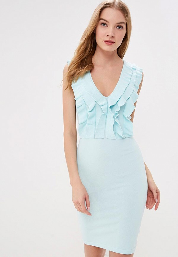 женское платье-футляр love republic, голубое