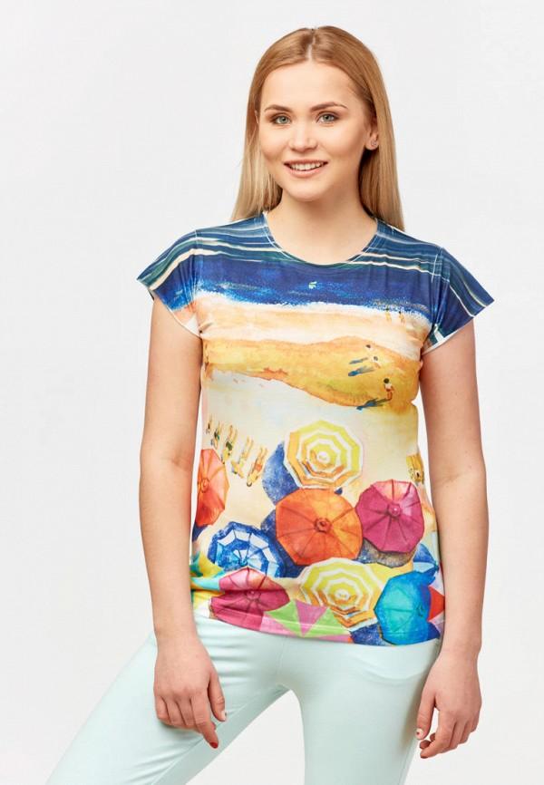 женская футболка campione, разноцветная