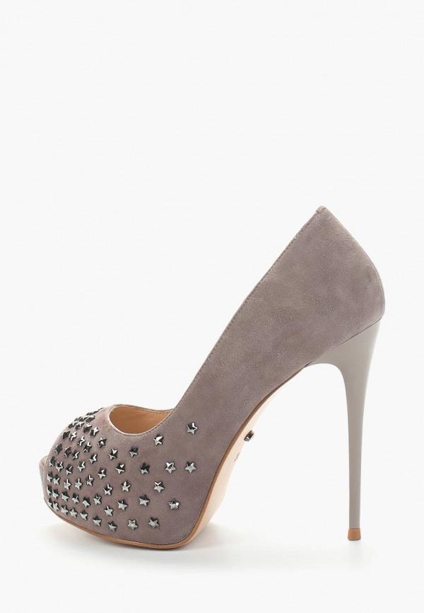женские туфли с открытым носом vitacci, серые