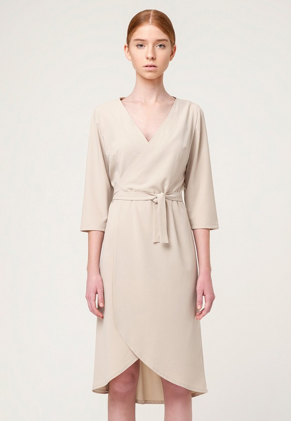 женское платье minimally, бежевое