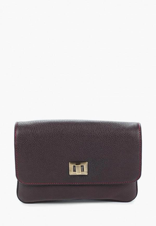 женская сумка d.angeny, бордовая