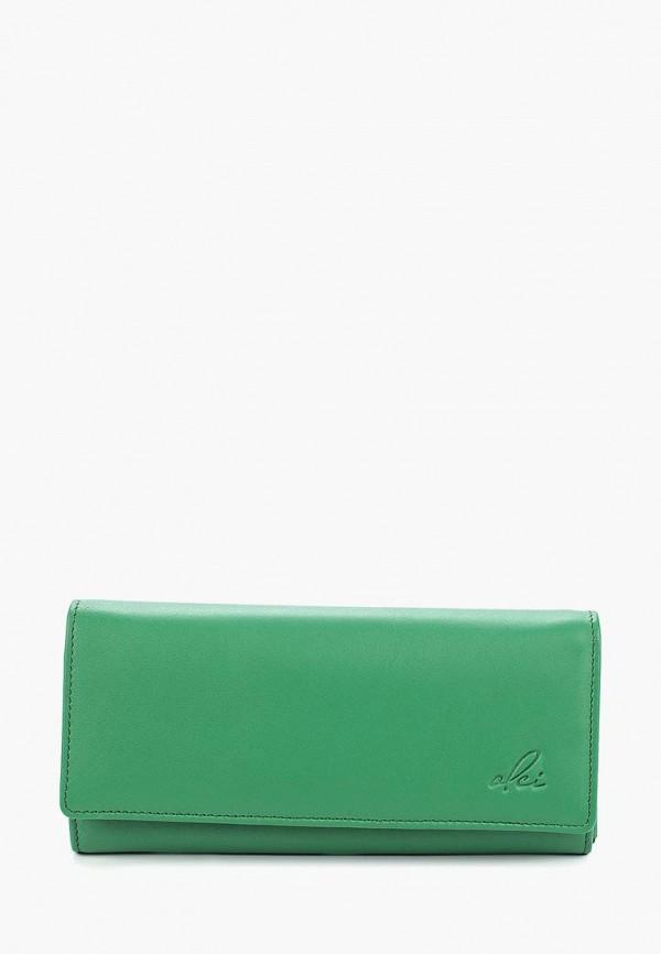 женский кошелёк olci, зеленый