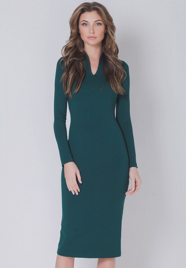 женское платье-футляр olga skazkina, зеленое
