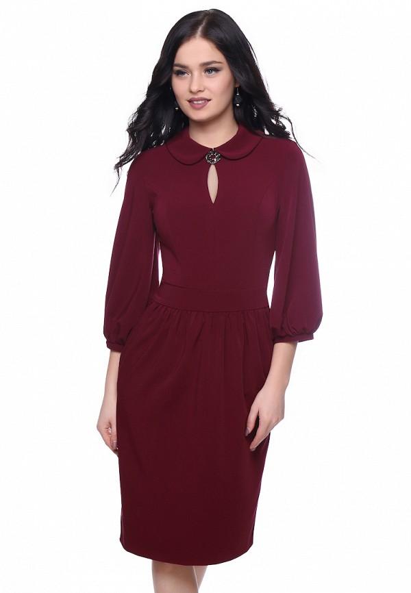 женское платье grey cat, бордовое