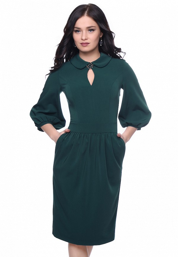 женское платье grey cat, зеленое