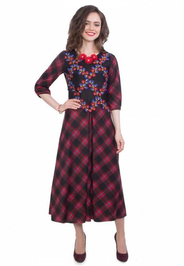 женское повседневные платье wisell, красное