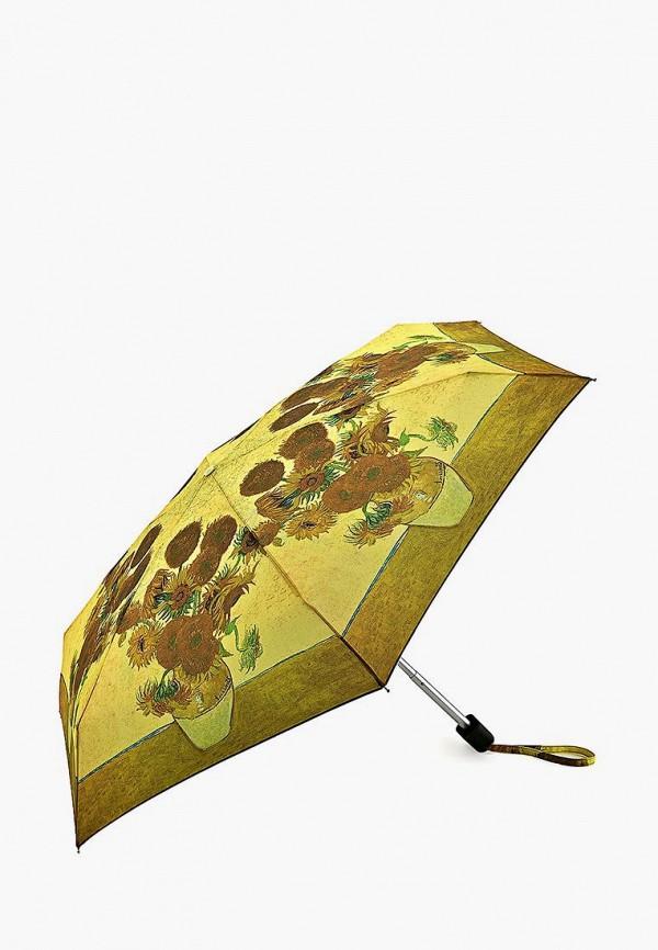 Купить Зонт складной Fulton, mp002xw13lan, желтый, Весна-лето 2019