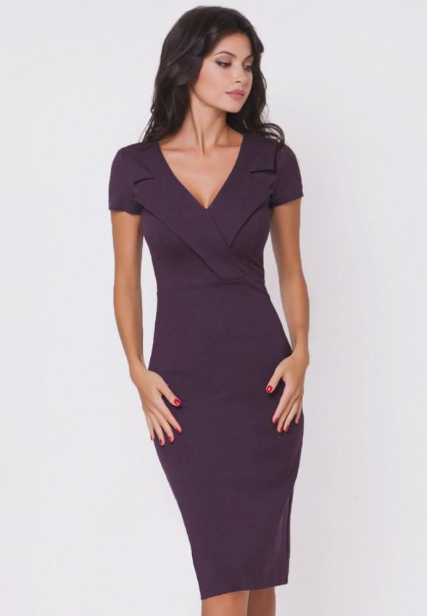женское повседневные платье olga skazkina, фиолетовое