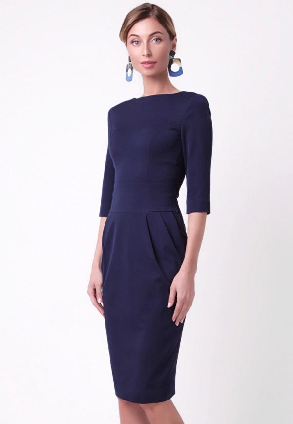 женское платье-футляр olga skazkina, синее