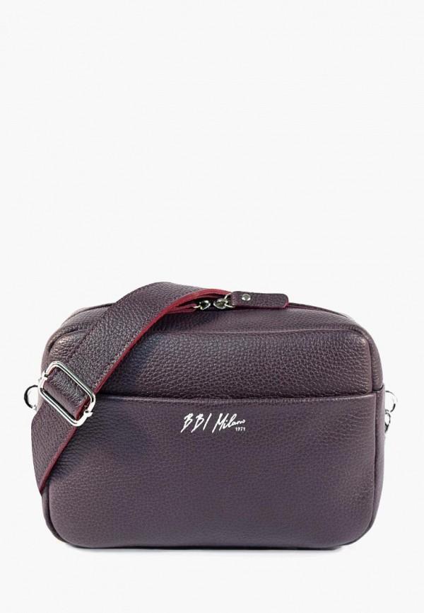 женская сумка через плечо bb1, бордовая