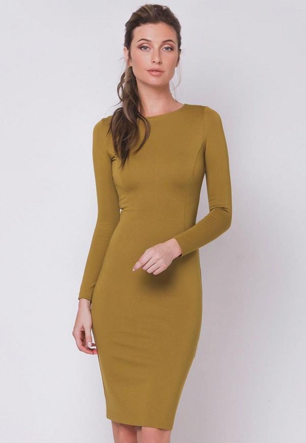 женское платье olga skazkina, коричневое