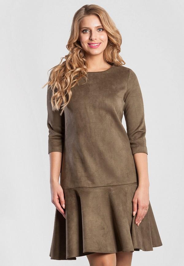 Купить Платье Olga Peltek, MP002XW13NHQ, хаки, Осень-зима 2017/2018