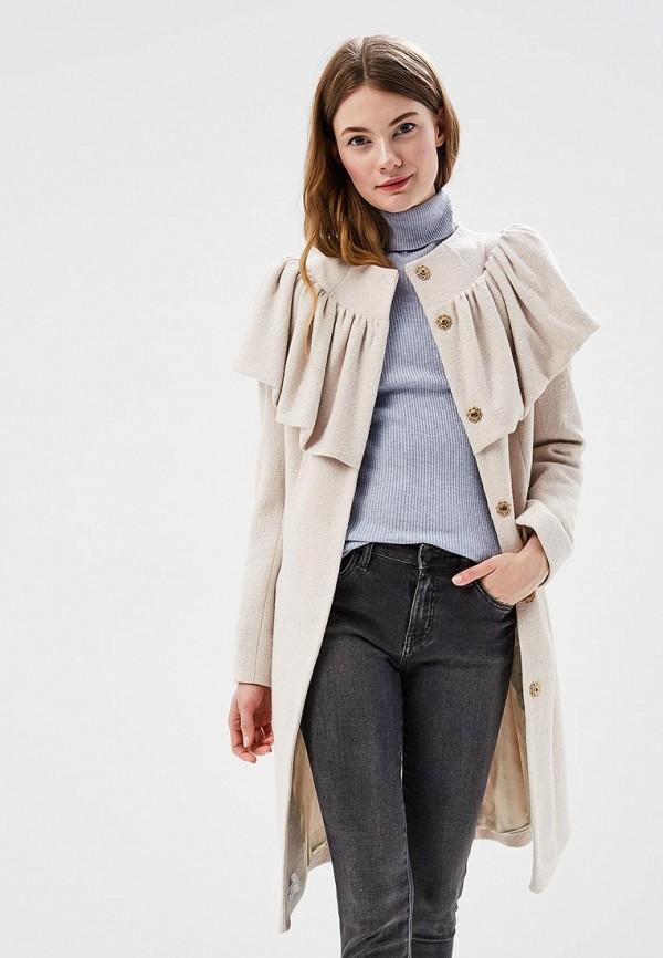 женское пальто anastasya barsukova, бежевое