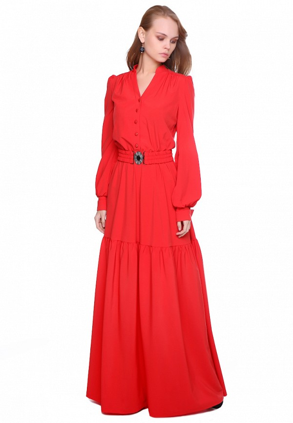 женское платье макси marichuell, красное