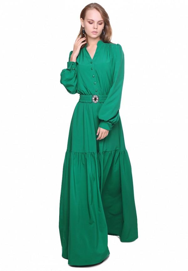 женское платье макси marichuell, зеленое