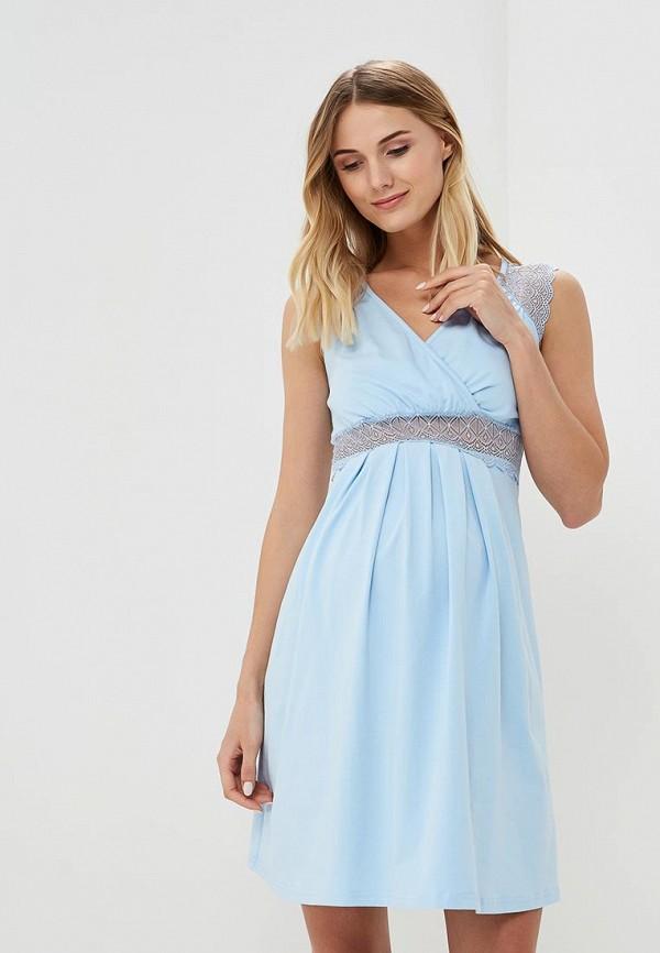 женские сорочка ночная hunny mammy, голубые