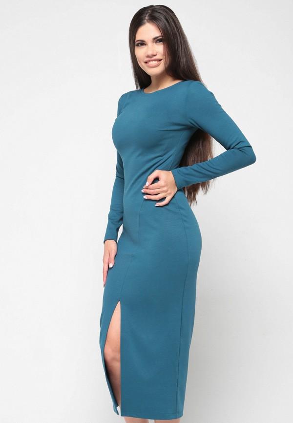 Купить Платье Malaeva, MP002XW13Q0E, бирюзовый, Весна-лето 2018