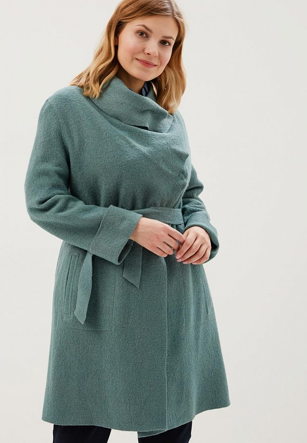 женское пальто grafinia, зеленое