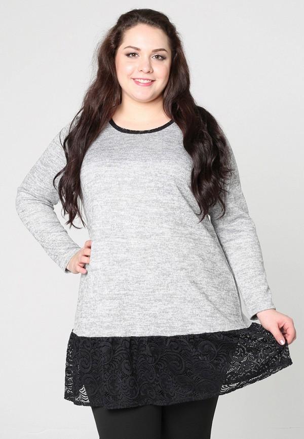 женская туника darissa fashion, серая