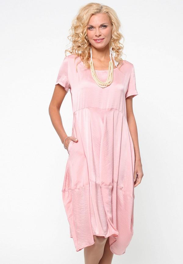 женское платье миди kata binska, розовое