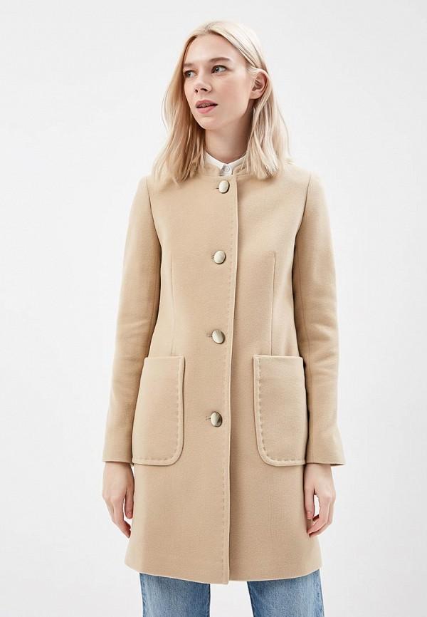 женское пальто azell'ricca, бежевое