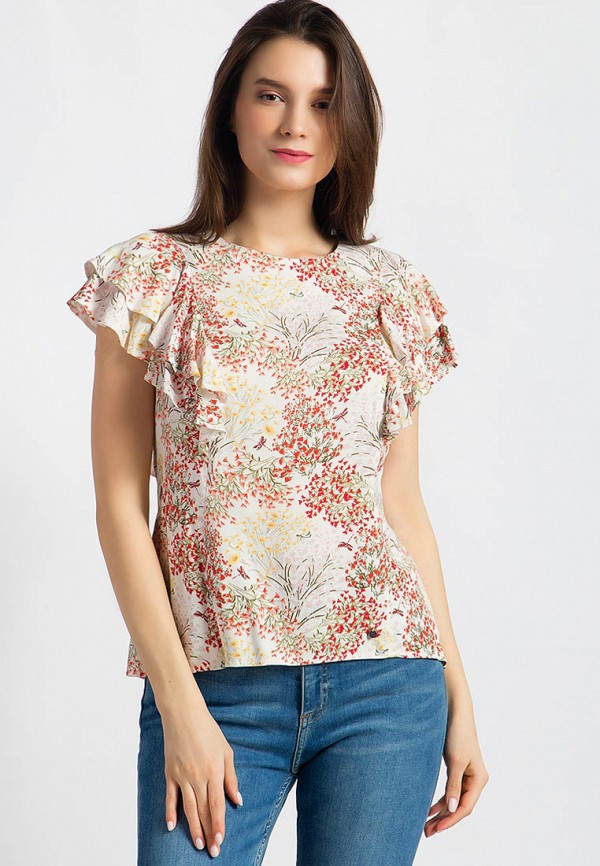 Купить Блуза Finn Flare, mp002xw13sps, бежевый, Весна-лето 2018