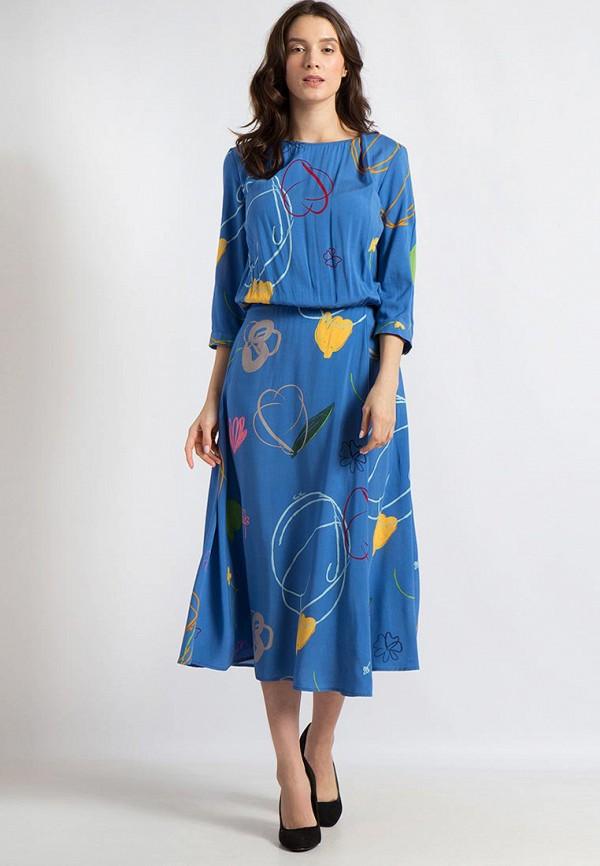 Купить Платье Finn Flare, MP002XW13SQ6, синий, Весна-лето 2018