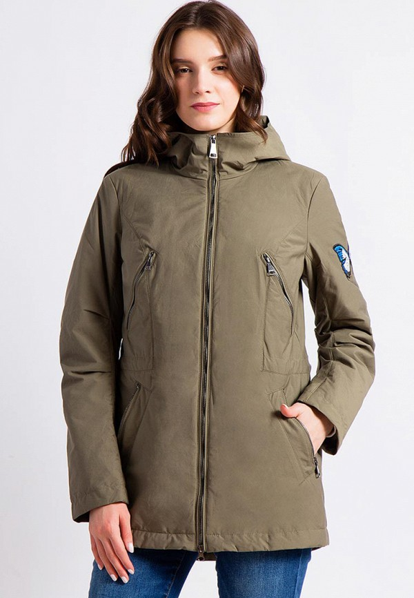 Купить Куртка утепленная Finn Flare, mp002xw13srb, хаки, Весна-лето 2018