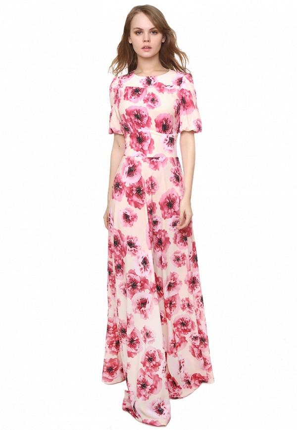 женское платье макси marichuell, бежевое