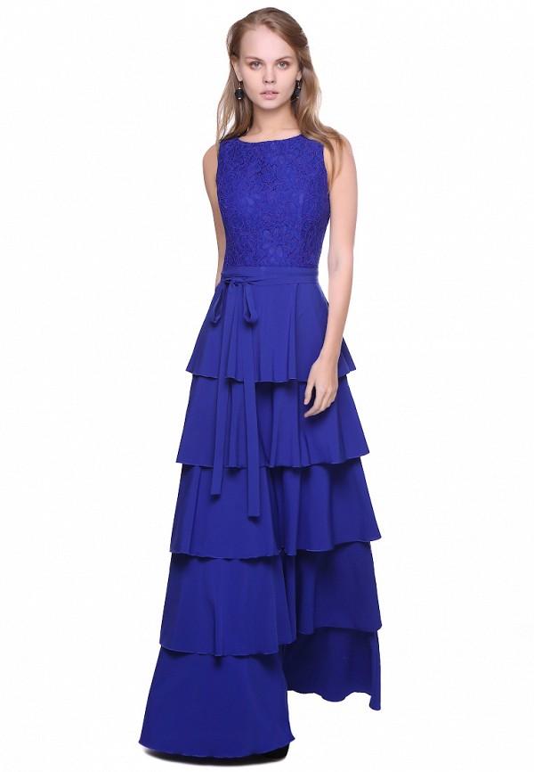 женское платье макси marichuell, синее
