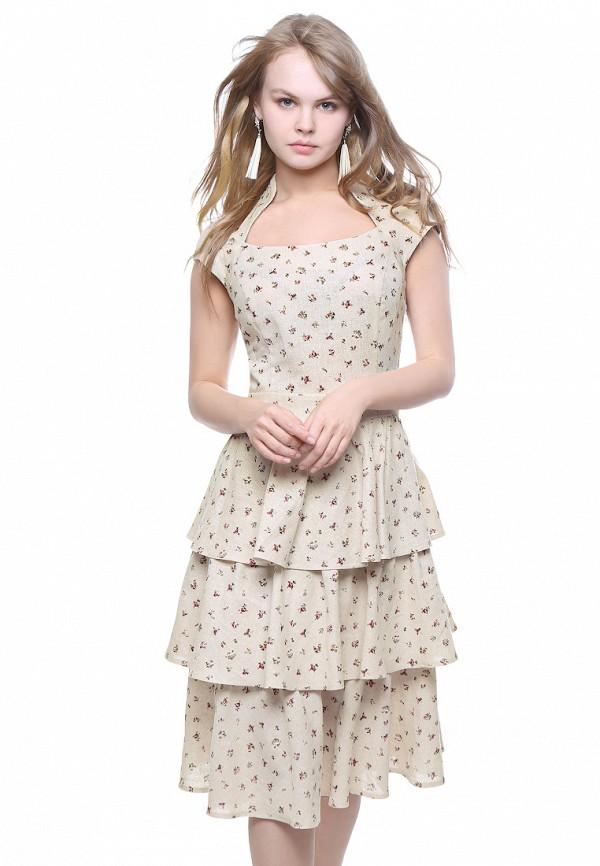 женское платье миди marichuell, бежевое