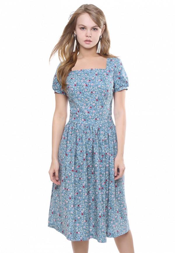 женское платье миди marichuell, голубое