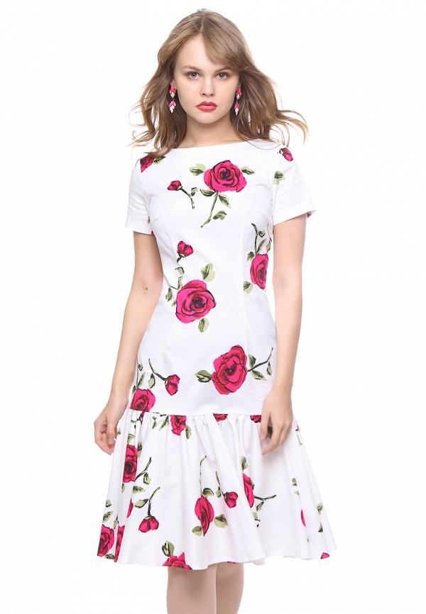 женское повседневные платье marichuell, белое
