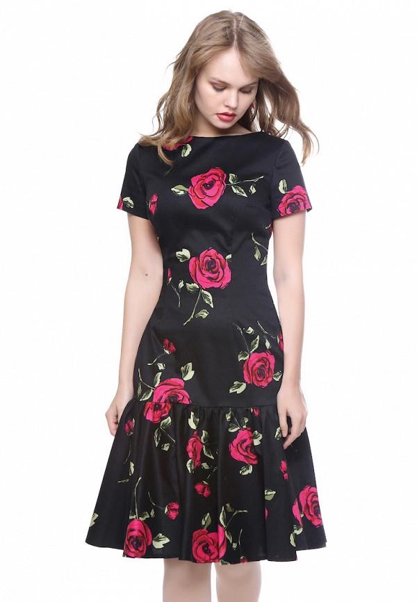 женское платье миди marichuell, черное