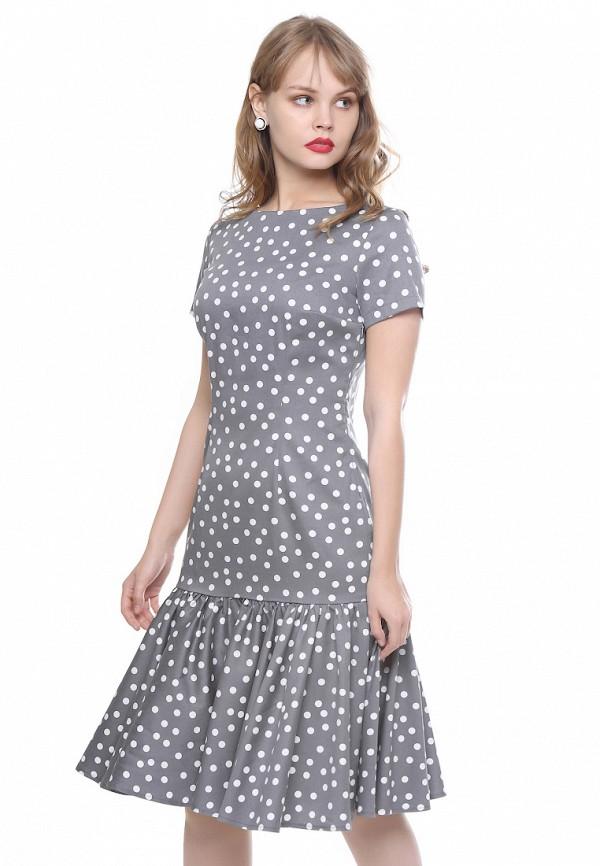 женское повседневные платье marichuell, серое
